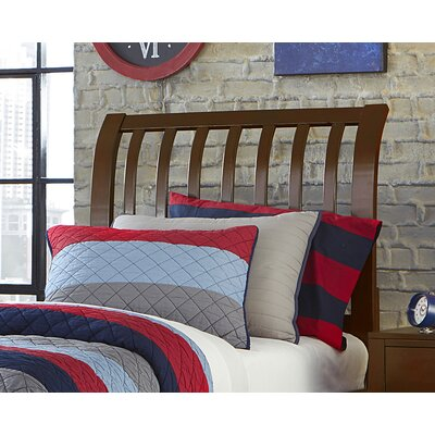 Pulse Rake Sleigh Headboard Size: Twin, Color: Cherry