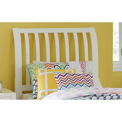Pulse Rake Sleigh Headboard Size: Queen, Color: White