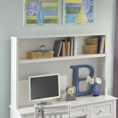 Javin Veneer Desk Hutch in White