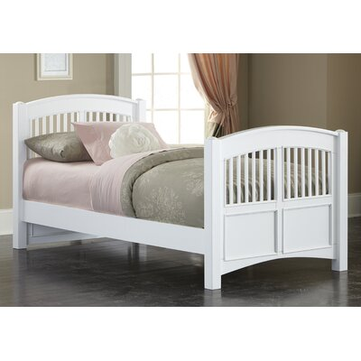Javin Contemporary Twin Slat Bed Color: White