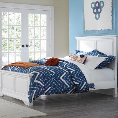 Javin Traditional Wood Panel Bed Finish: White, Size: Full