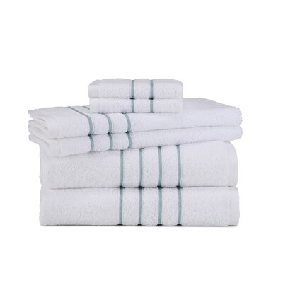 Polizzi 6 Piece Towel Set Color: White/Mineral
