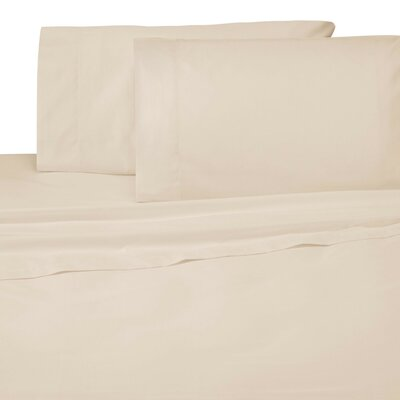 Galvez 300 Thread Count Fitted Sheet Size: Queen, Color: Beige