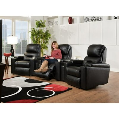 Infinity Recliner Upholstery: Black