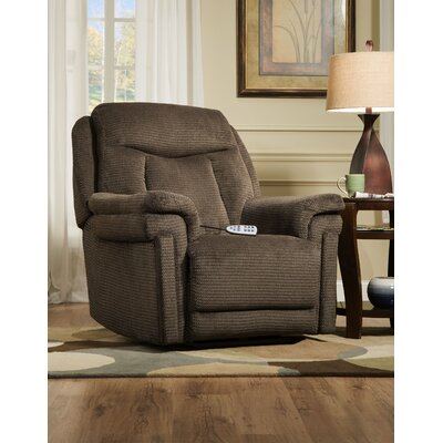 Rocker Recliner Upholstery: Honeycomb Mocha, Reclining Type: Power - Remote - Headrest & Lumbar, Motion Type: Lift Assist