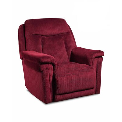 Rocker Recliner Upholstery: Honeycomb Sienna, Reclining Type: Power - Remote - Headrest & Lumbar, Motion Type: Rocker