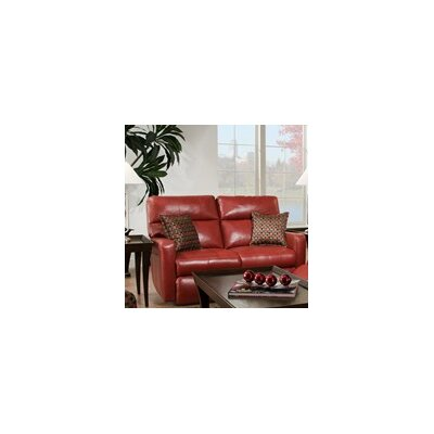Savannah Leather Reclining Loveseat Type: Power Plus