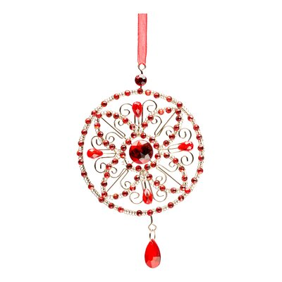 Crystal Medallion Holiday Ornament