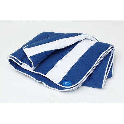 Max Matt / Comforter Size: Twin, Color: Blue / White