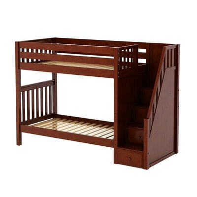 Wopper Twin over Twin Bunk Bed Color: Chestnut