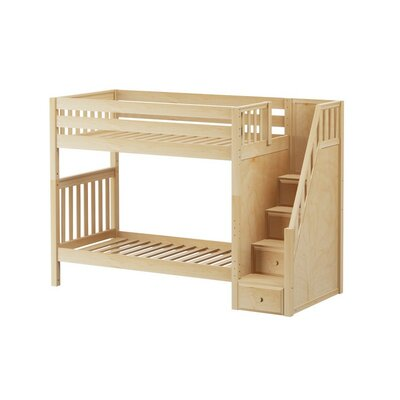 Wopper Twin over Twin Bunk Bed Color: Natural