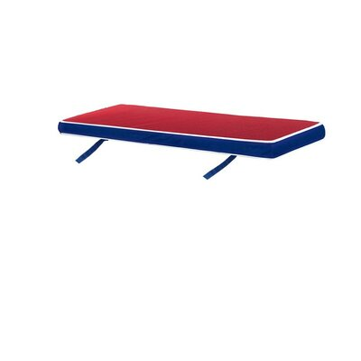 Outdoor Bench Cushion Color: Blue/Red