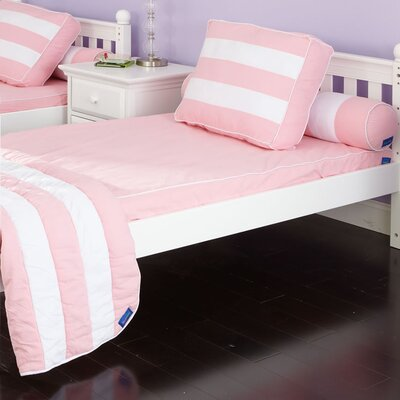 Max Matt / Comforter Size: Twin, Color: Soft Pink / White