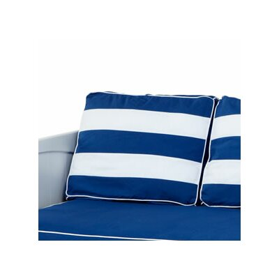 Stripe Pillow Cover Color: Blue / White