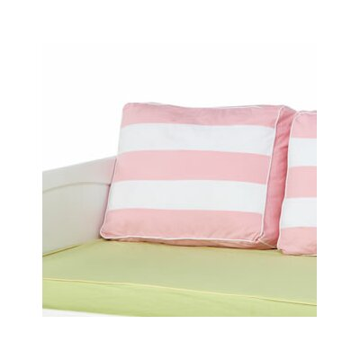 Stripe Pillow Cover Color: Soft Pink / White