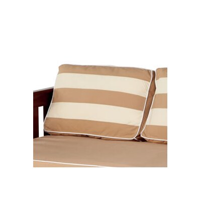 Stripe Pillow Cover Color: Dark Khaki / Light Khaki