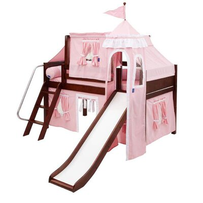 Wow23 Twin Low Loft Bed Color: Chestnut