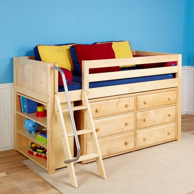 Kicks2 Low Loft Bed with Storage Finish: Natural
