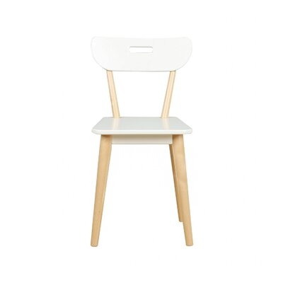 Mid Century Dining Chair Color: Natural/White