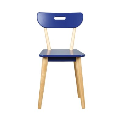 Mid Century Dining Chair Color: Natural/Blue