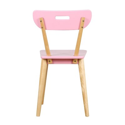 Mid Century Dining Chair Color: Natural/Pink
