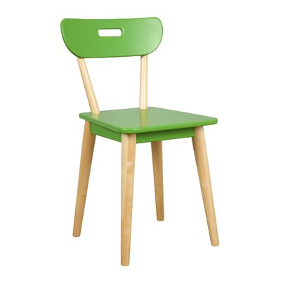 Mid Century Dining Chair Color: Natural/Green