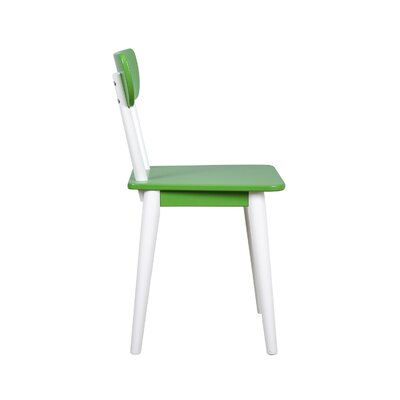 Mid Century Dining Chair Color: White/Green