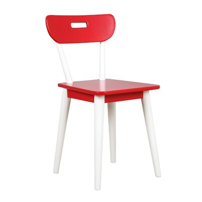 Mid Century Dining Chair Color: White/Red