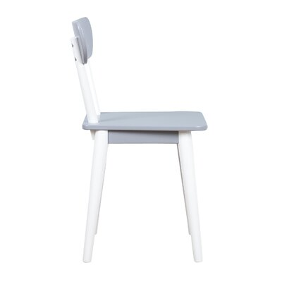 Mid Century Dining Chair Color: White/Grey