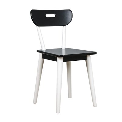 Mid Century Dining Chair Color: White/Black