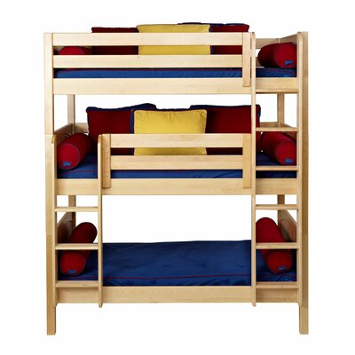 Holy Twin over Twin Triple Bed Bed Frame Color: Natural