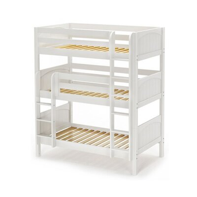 Holy Twin over Twin Triple Bed Bed Frame Color: White