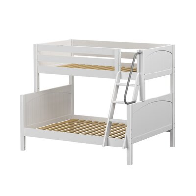 Slope Twin over Full Bunk Bed Color: White