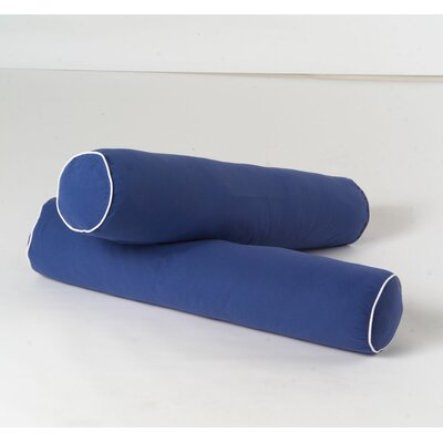 Bolster Pillows Color: Blue & White