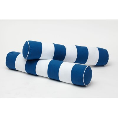 Stripe Bolster Cover Color: Blue / White