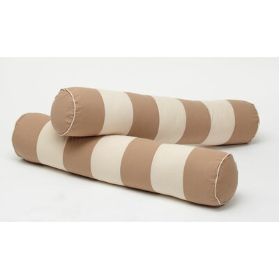 Stripe Bolster Cover Color: Dark Khaki / Light Khaki