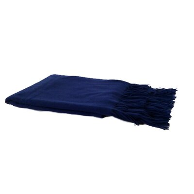 Pur Modern Moderne Cashmere Throw - Color: True Navy at Sears.com