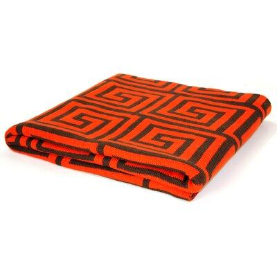Pur Modern Jones Jacquard Cotton Throw - Color: Orange/Chocolate at Sears.com
