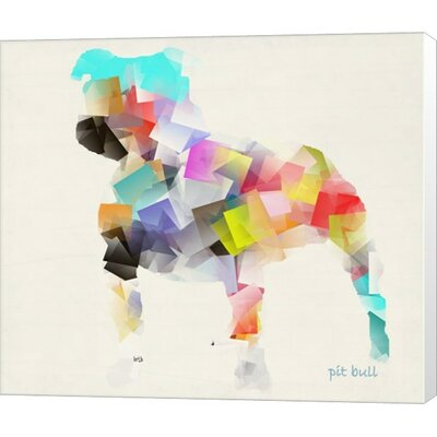 Pit Bull by Bri Buckley Graphic Art on Canvas