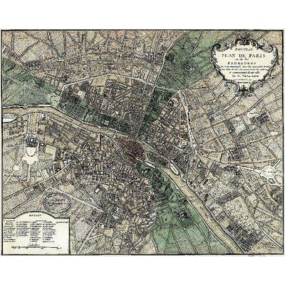 Plan de Paris Graphic Art 10464p
