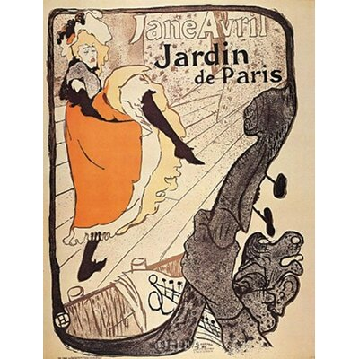 Jardin de Paris by Henri de Toulouse-Lautrec Vintage Advertisement 10416p