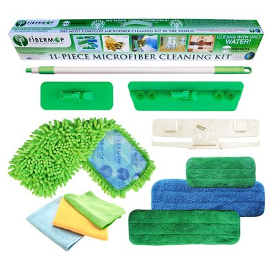 Fibermop 11 Piece Microfiber Mop Cleaning Kit FIB0382