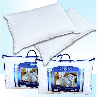 Creative Living Solutions 2 Bed Feather and Down Pillows Size: Queen