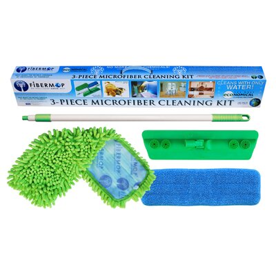 Fibermop 3 Piece Microfiber Mop Cleaning Kit FIB0399