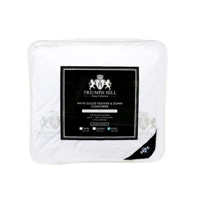 Triumph Hill Heavyweight Down Comforter Size: King