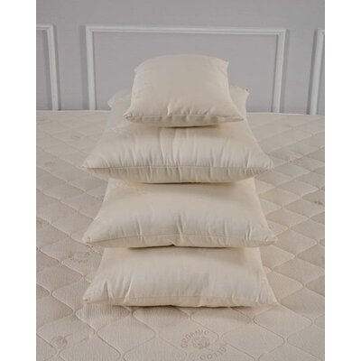 Organic Medium Wool Pillow Size: Queen