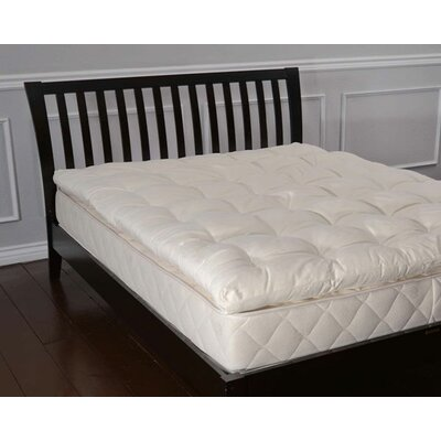 3 Wool Mattress Topper Size: King