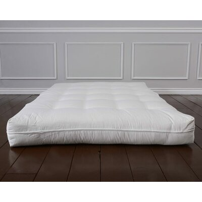 Luxury Cotton 8 Foam Core Futon Mattress Size: Queen
