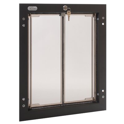 Performance Pet Door / Door Mount Size: Medium, Color: Silver