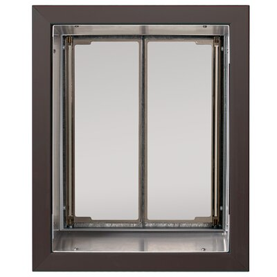 Performance Pet Door Wall Mount Size: Large, Color: Bronze